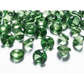 Diamanty 20mm zelené