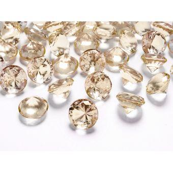 Diamanty 20mm zlaté