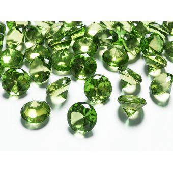 Zelené diamanty 20mm - zelená farba