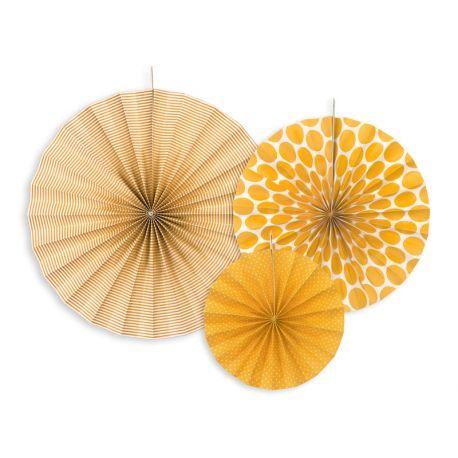 Dekoračné rozety - oranžová farba
