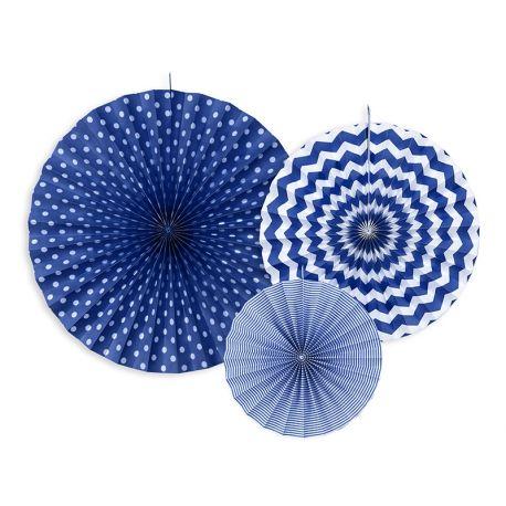 Dekoračné rozety - tmavo modrá farba