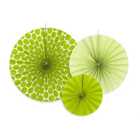 Dekoračné rozety - svetlo zelená farba