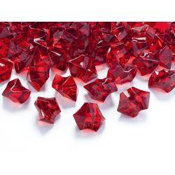 Červený kryštál 25mm - červená farba