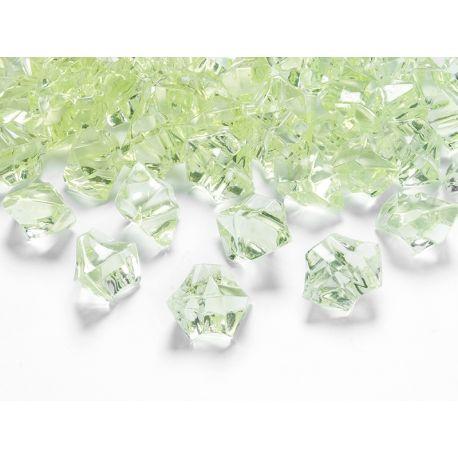 Zelený kryštál 25mm - zelená jablková farba