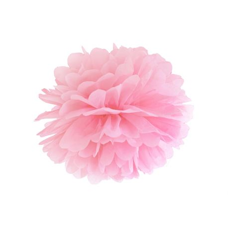 Pom pom 35cm - svetlo ružová farba