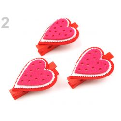 Červené drevené štipce - srdce