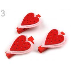 Drevené štipce - srdce