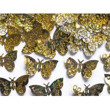 Zlaté konfety na stôl - motýle