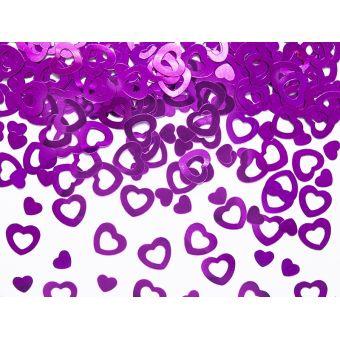 Konfety srdcia ružové