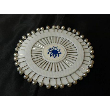 Ozdobné biele špendlíky - 40 ks