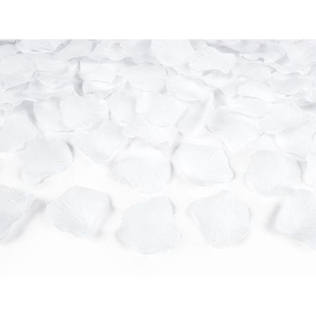 Vystreľovacie konfety lupene 40cm - biela farba
