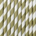 Papierové slamky zlaté