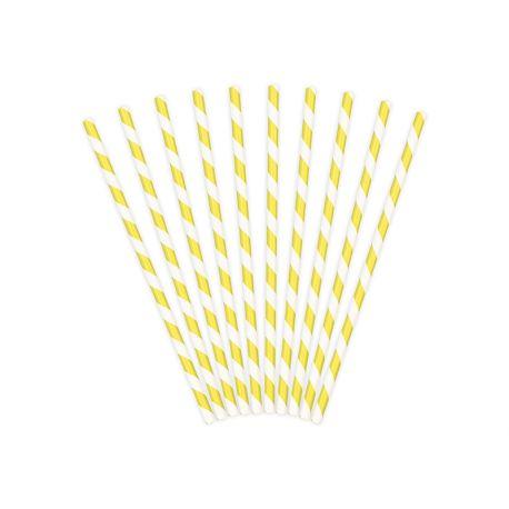 Papierové slamky - žltá farba