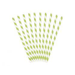 Papierové slamky svetlo zelené