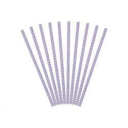 Papierové slamky - fialová farba