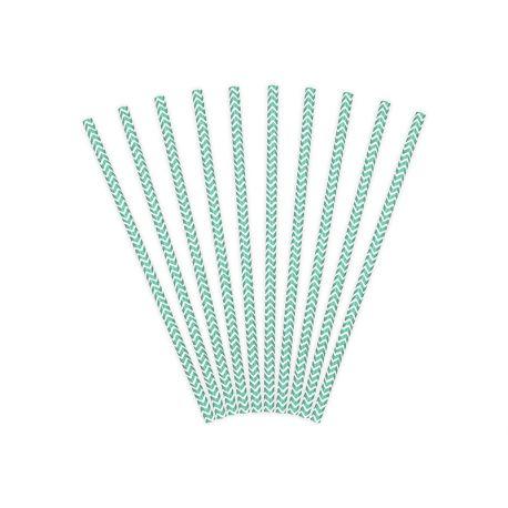 Papierové slamky tiffany blue