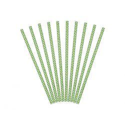Zelené papierové slamky