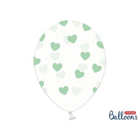 Balón Crystal Clear - mentolové srdiečka