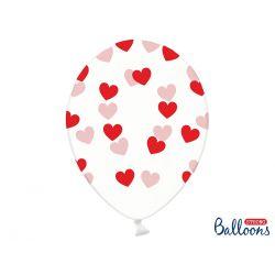 Červené srdiečka na balóne