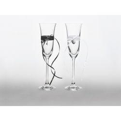 Set 2 - Svadobné poháre na šampanské