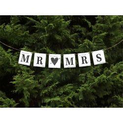 Svadobný banner Mr (srdce) Mrs