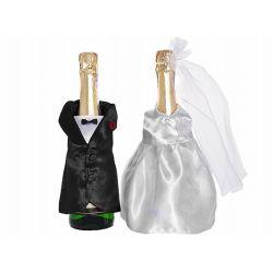 Svadobné oblečenie na fľaše