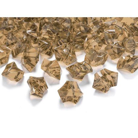 Zlatý kryštál 25mm - zlatá farba