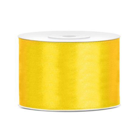 Žltá saténová stuha - 50mm/25m
