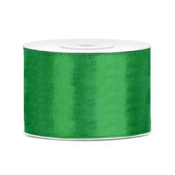 Zelená saténová stuha - 50mm/25m