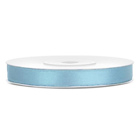 Modrá saténová stuha - 06mm/25m