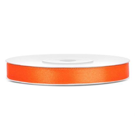 Oranžová saténová stuha - 06mm/25m