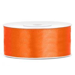 Oranžová saténová stuha - 25mm/25m