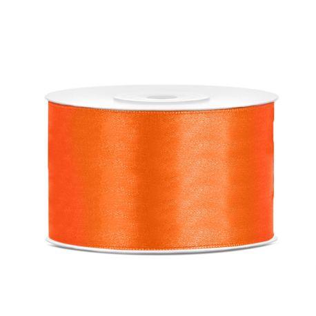 Oranžová saténová stuha - 38mm/25m