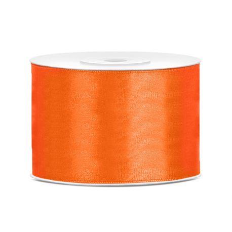 Oranžová saténová stuha - 50mm/25m