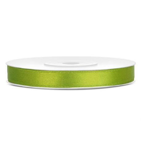 Zelená saténová stuha jablko - 06mm/25m