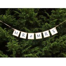 Svadobný banner Mr & Mrs