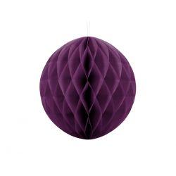 Fialová papierová guľa - Honeycomb Ball - 30