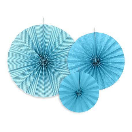 Dekoračné rozety - svetlo modrá farba