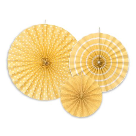 Dekoračné rozety - žltá farba