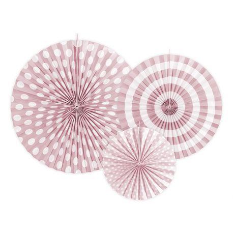 Dekoračné rozety - svetlo ružová farba