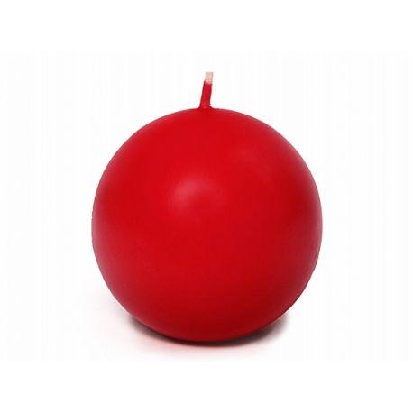 Sviečka guľa červená matná