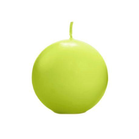 Sviečka guľa zelená/jablko matná