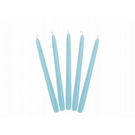 Sviečka kónická modrá/tmavá matná - 24cm
