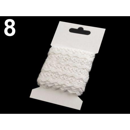 Biela bavlnená krajka 15mm