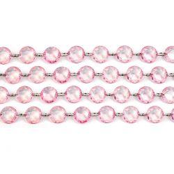Ružová kryštálová girlanda