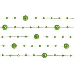 Zelená perlová girlanda