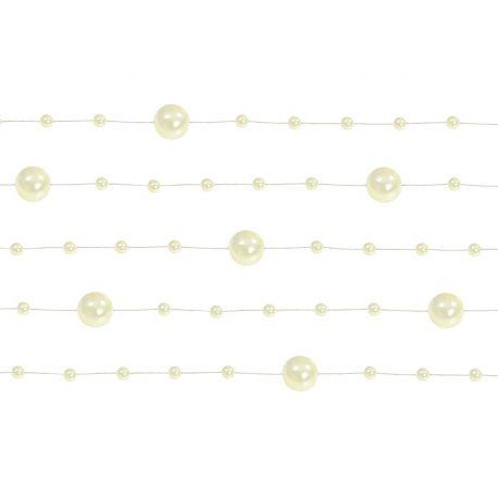 Girlanda perlová 1,3m krémová