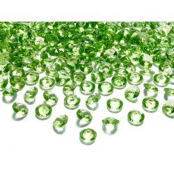 Zelené diamanty 12mm - zelená/jablková farba