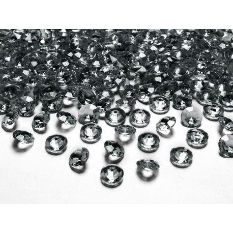 Sivé diamanty 12mm - sivá farba