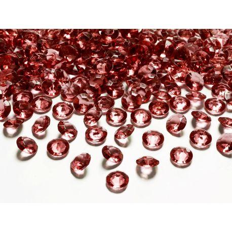 Bordové diamanty 12mm - bordová farba